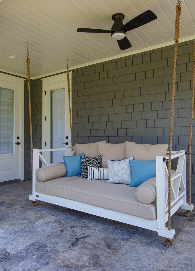 Porch Swing Cushion Porch Swing Cushion Ideas Neutral Porch Swing Cushion Porch Swing Cushion #PorchSwing #PorchSwingCushion