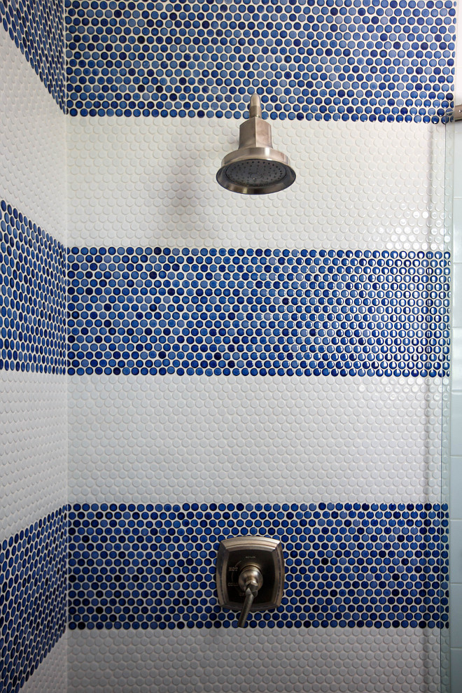 Shower Blue and white penny tile Shower Blue and white penny tile Shower Blue and white penny tile Shower Blue and white penny tile #Shower #Blueandwhitetile #pennytile