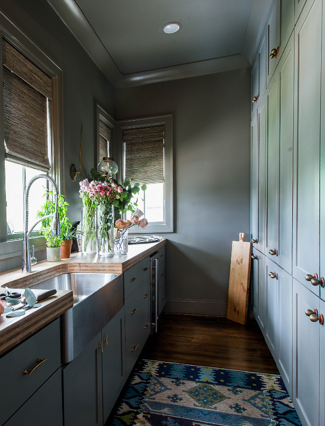 Grey Pantry Paint Color Pratt & Lambert Woodwitch Grey Pantry Paint Color Grey Pantry Paint Color #GreyPantry #GreyPaintColor
