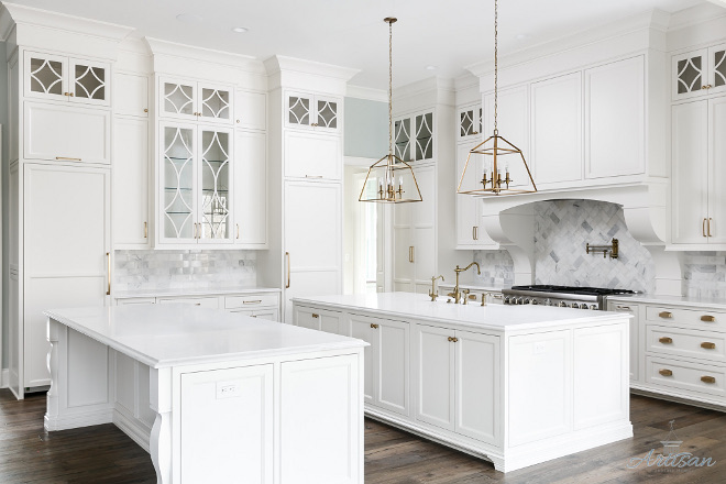 White Kitchen with two islands White Kitchen with two islands White Kitchen with two islands White Kitchen with two islands #WhiteKitchen #twoislands