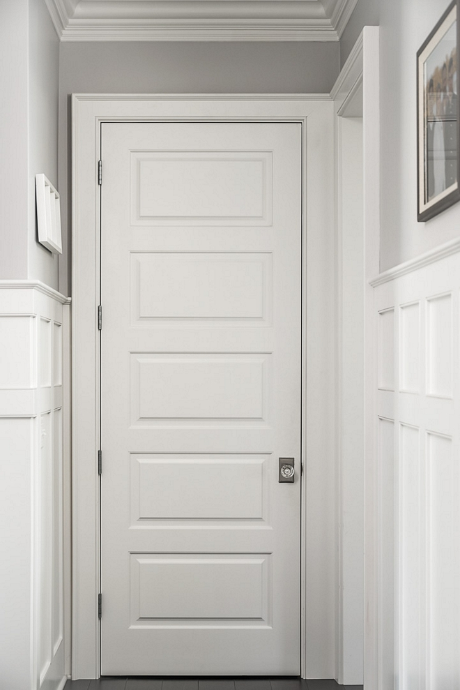 Decorator's White by Benjamin Moore Trim Interior Door Paint Color