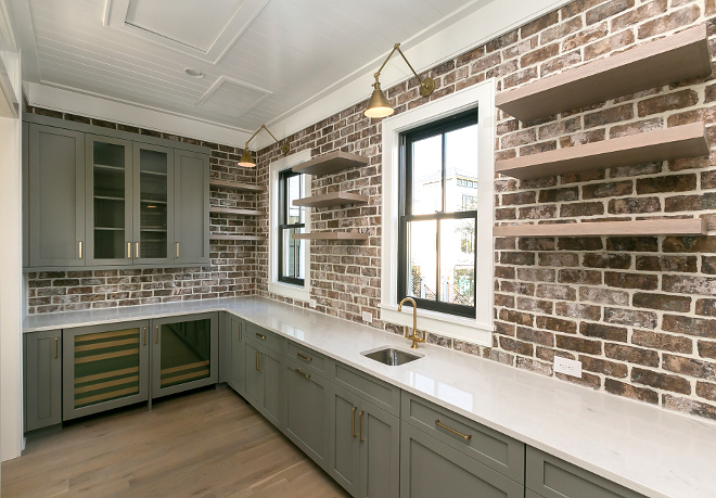 Farmhouse Pantry with brick backsplash Grey Farmhouse Pantry with brick backsplash Farmhouse Pantry with brick backsplash Farmhouse Pantry with brick backsplash Farmhouse Pantry with brick backsplash #FarmhousePantry #brickbacksplash