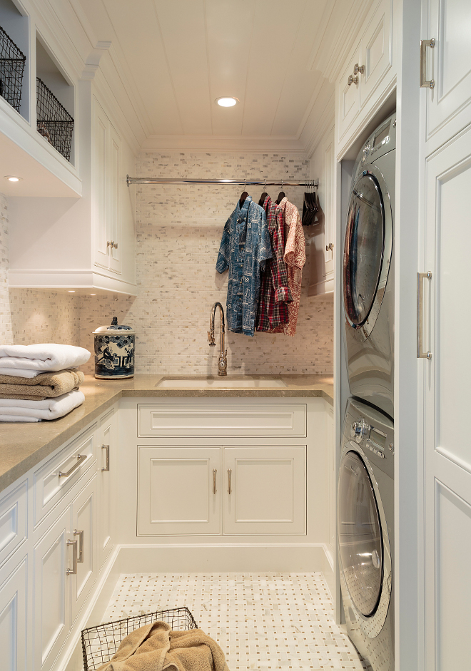 Basement Laundry Room: Classic Coastal Interior Inspiration