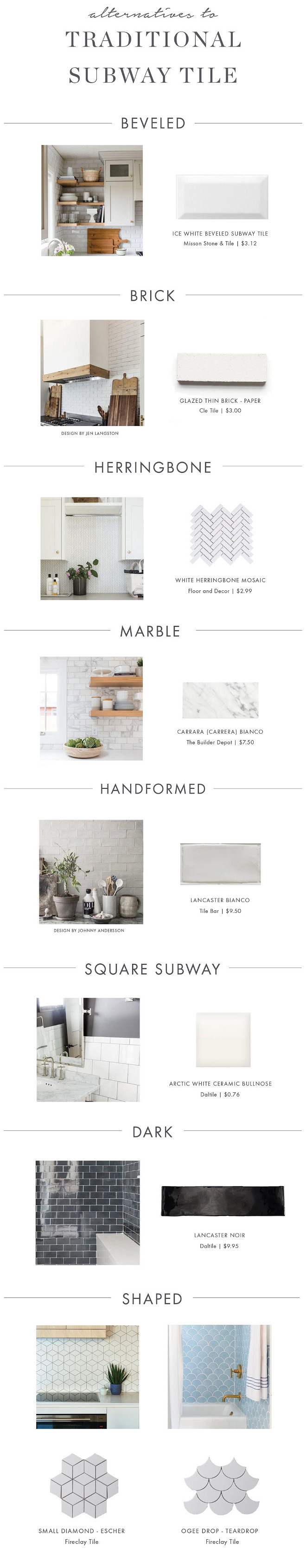Tile Ideas Backsplash Tile Shower Tile Latest Tiles Beveled Tile, Brick, Herringbone Tile, Marble Tile, Handformed Tile, Square Subway Tile, Dark Tile, Shaped Tile #tiles