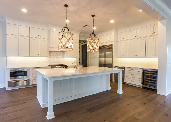 This kitchen is really pretty and very well-planned