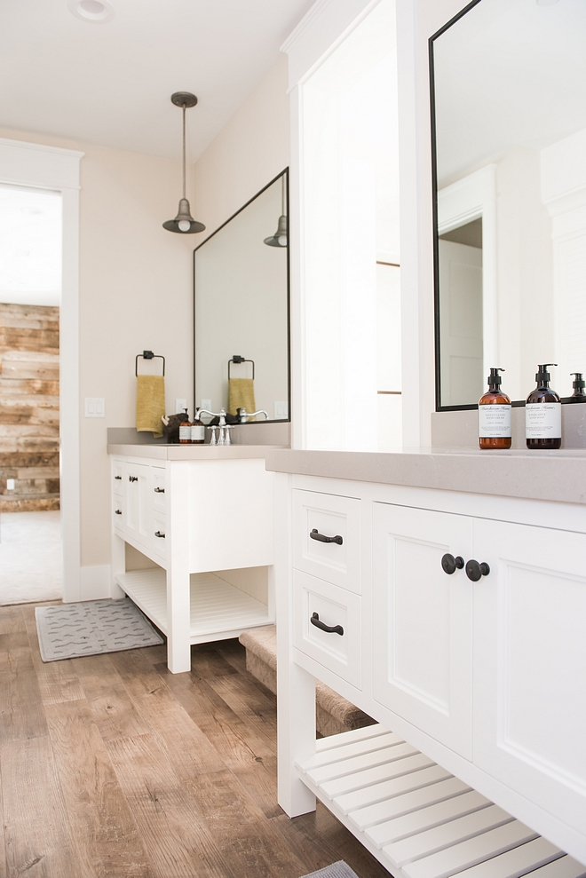 Modern Farmhouse Jack and Jill Bathroom