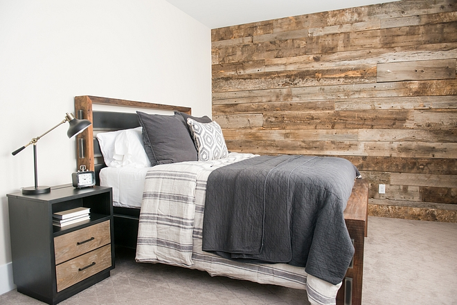 Farmhouse bedroom with Barnwood Shiplap