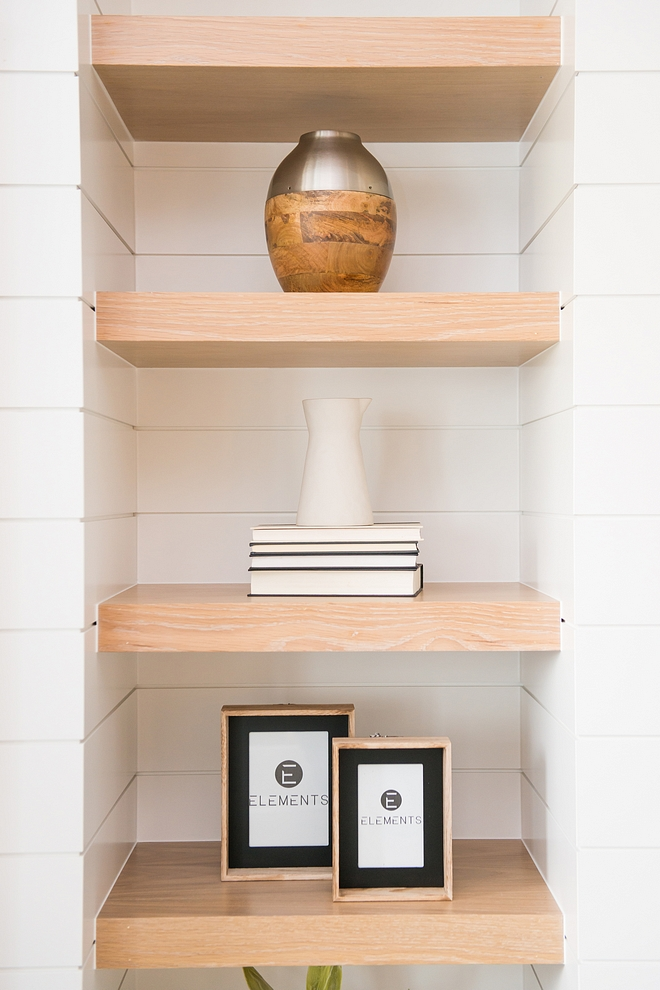 Shiplap White Oak Shelves Built ins Shiplap White Oak Shelves Built ins
