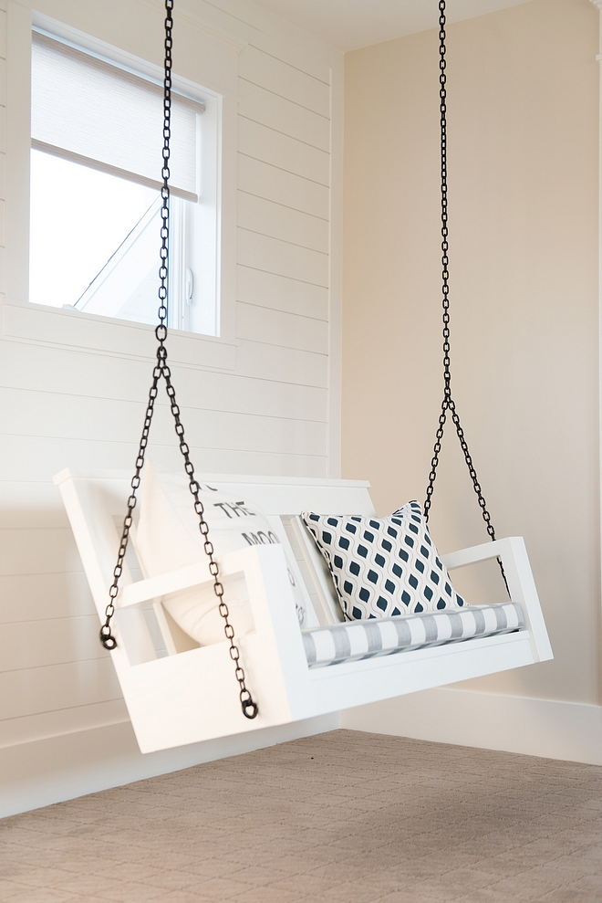 Porch Swing Playroom with Porch Swing