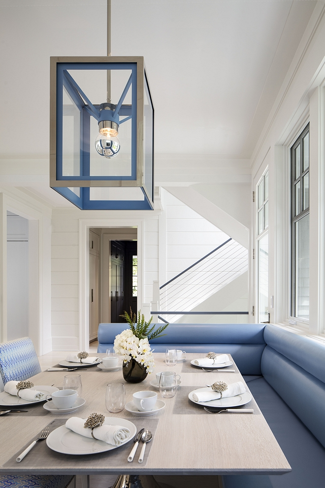 Blue and White Breakfast Nook Modern Blue and White Breakfast Nook Blue and White Breakfast Nook #BlueandWhite #BreakfastNook