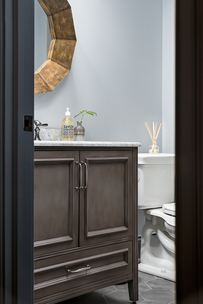 Basement Bathroom source on Home Bunch #BasementBathroom