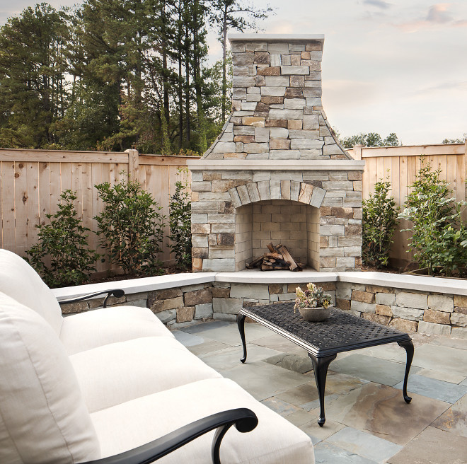 Backyard Fireplace sources on Home Bunch