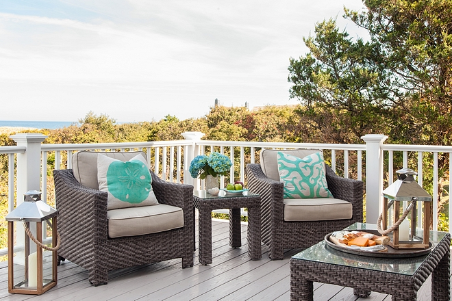 coastal pillows Outdoor club chairs
