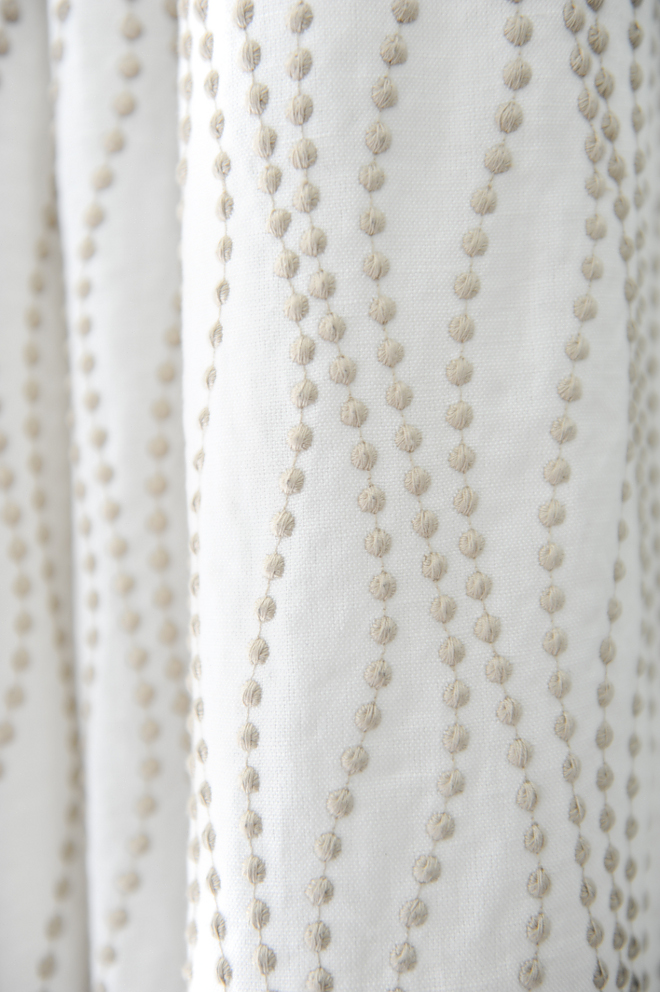 Embroidered linen curtains source on Home Bunch
