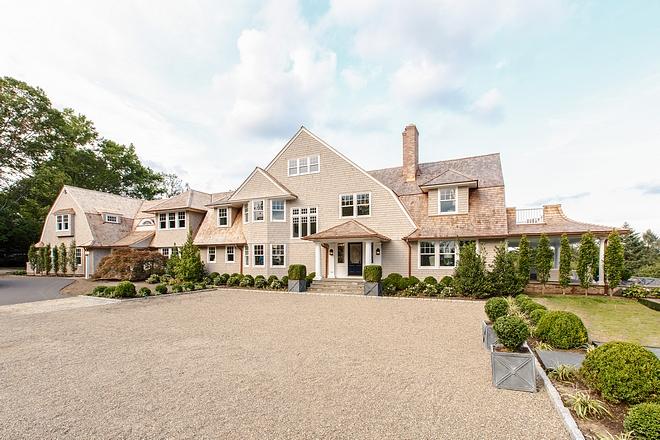 Gambrel Shingle-style Home exterior front facade