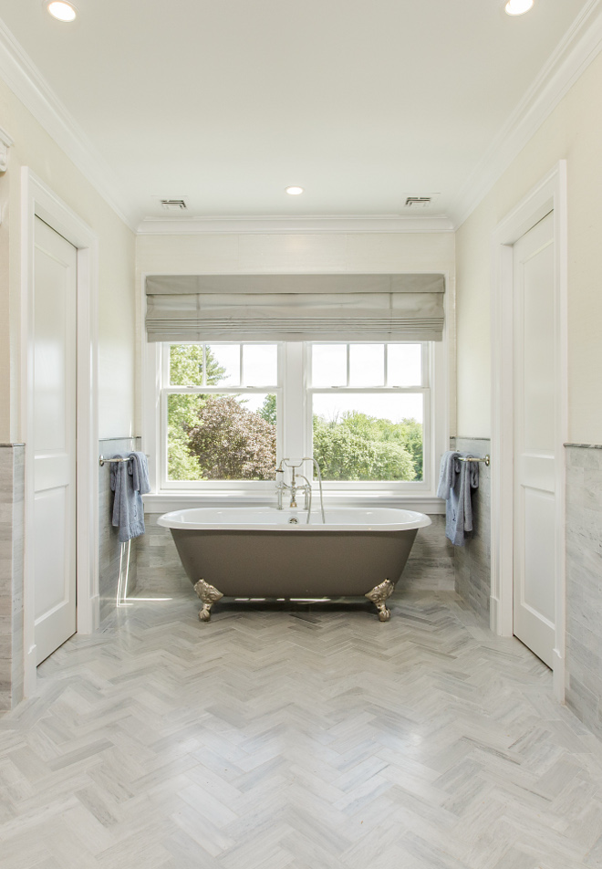 Herringbone Tile Herringbone source on Home Bunch Tile Herringbone Tile #HerringboneTile
