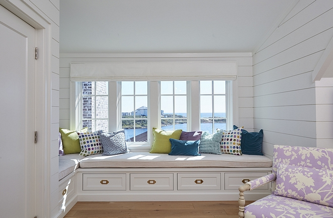 Window-seat with shiplap walls Window-seat with shiplap walls Window-seat with shiplap walls Window-seat with shiplap walls #Windowseat #shiplap