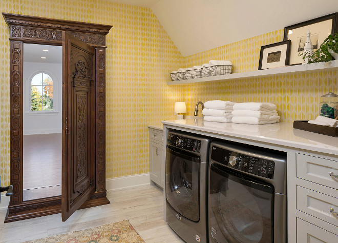 Yellow Laundry Room Yellow Laundry Room Yellow Laundry Room #YellowLaundryRoom