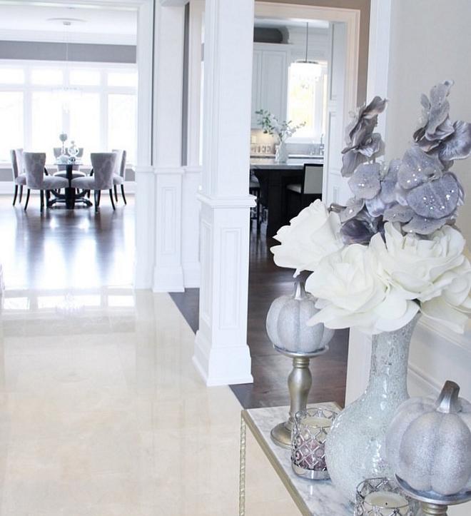 Crema Marfil Marble Foyer Floor Tile Crema Marfil Marble Tile #CremaMarfilMarble