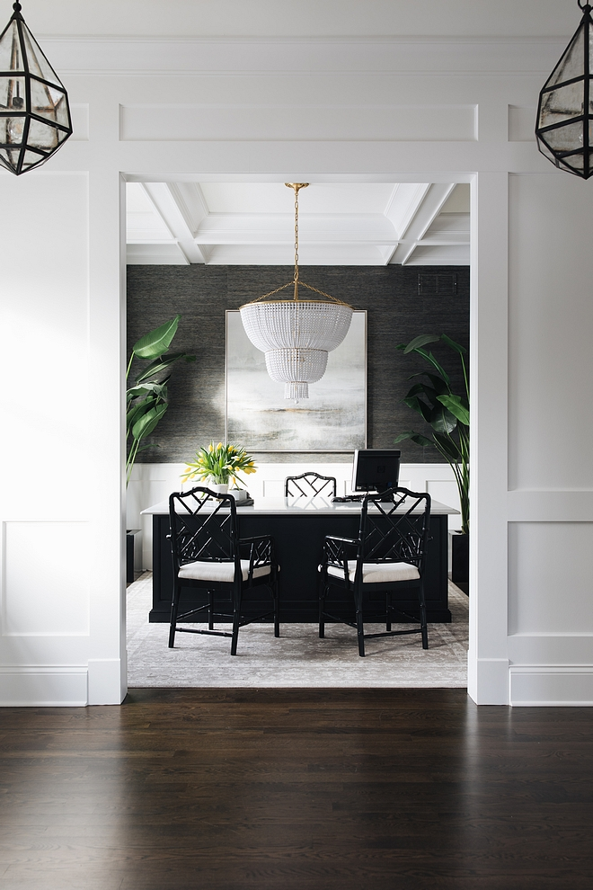 Millwork What type of millwork you should add to your home to give it a custom look-wainscotting millwork coffered ceiling paneling