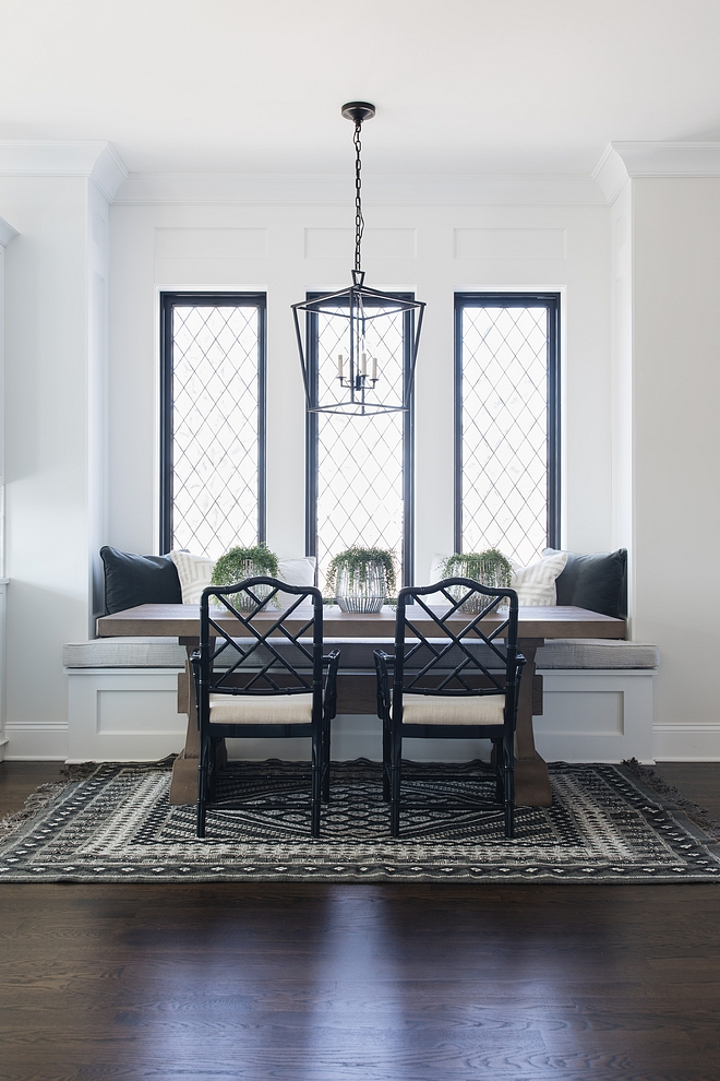 Farmhouse Breakfast Nook with Black windows Farmhouse Breakfast Nook Farmhouse Breakfast Nook Farmhouse Breakfast Nook #FarmhouseBreakfastNook #blackwindows #Farmhouse #BreakfastNook