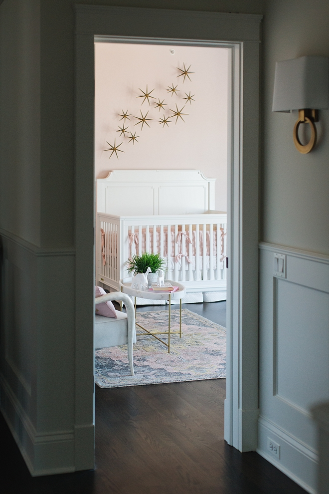 Blush Nursery Blush paint color and decor source on Home Bunch Nursery Blush Nursery Blush Nursery #BlushNursery