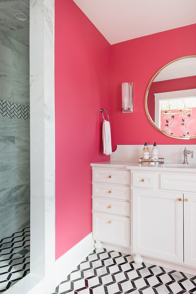 Fuchsia Bathroom Fuchsia Bathroom Kids Fuchsia Bathroom paint color on Home Bunch #Fuchsia #Bathroom