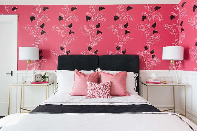 Fuchsia Bedroom sources on Home Bunch