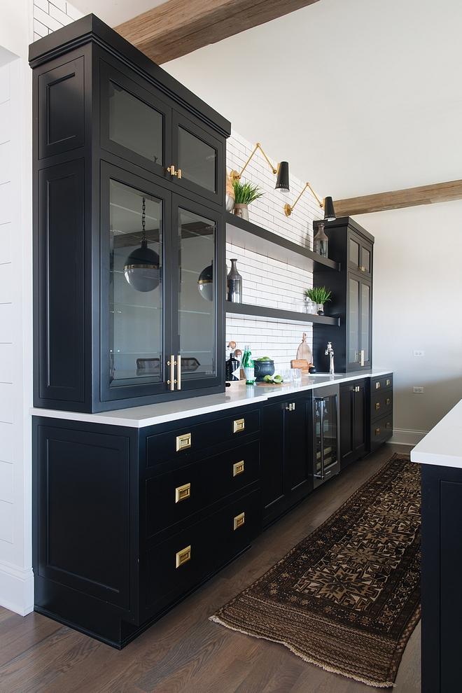 Benjamin Moore Black Black Cabinet paint color #BenjaminMooreBlack #BlackCabinet #paintcolor