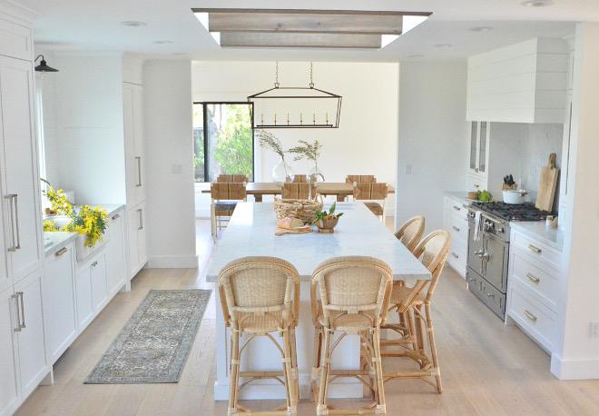 Kitchen with skylight above island Kitchen with skylight above island #Kitchenskylight