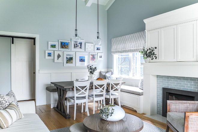 L-Shaped Breakfast Nook L-Shaped Breakfast Nook with banquette Small spaces L-Shaped Breakfast Nook #LShapedBreakfastNook #BreakfastNook #smallspaces