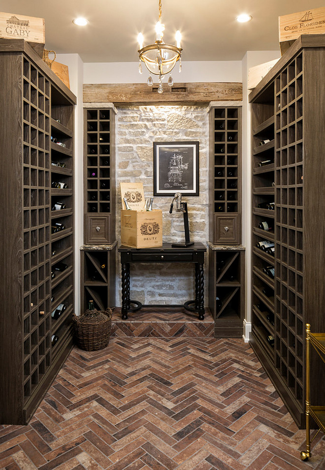Herringbone Brick floor ideas Wine Room Wine Room Herringbone Brick floor #HerringboneBrick #wineroom