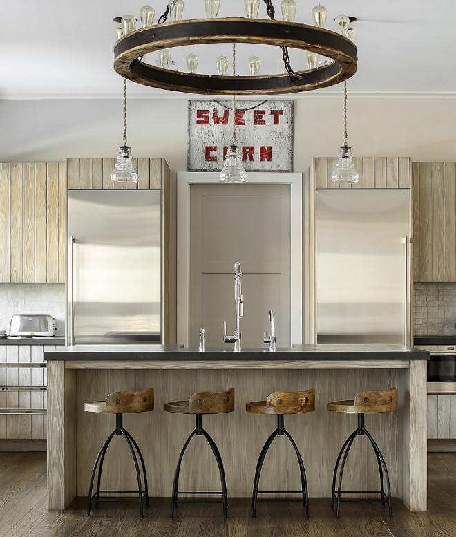 Wood counterstools  with metal base source on Home Bunch