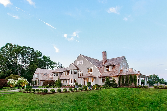 Gambrel shingle-style home