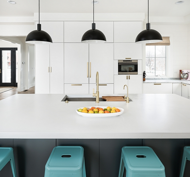 Polished concrete countertop Kitchen Island Countertop Instagram Interior Design