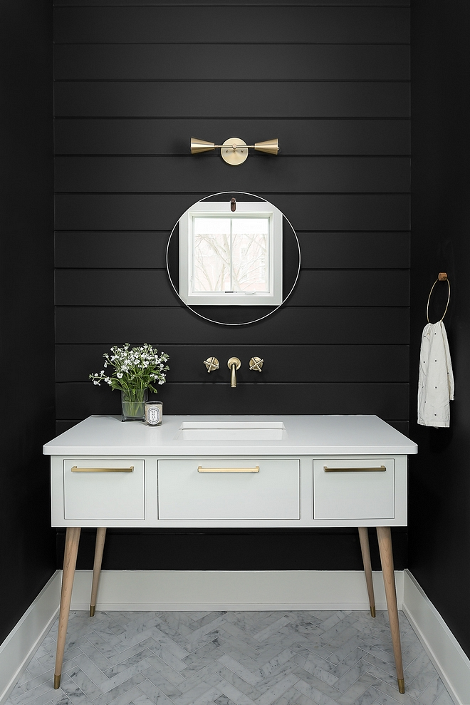 Benjamin Moore Black Jack Black Shiplap Paint color sources on Home Bunch
