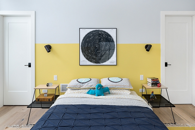 Two-Toned Bedroom paint colors on Home Bunch