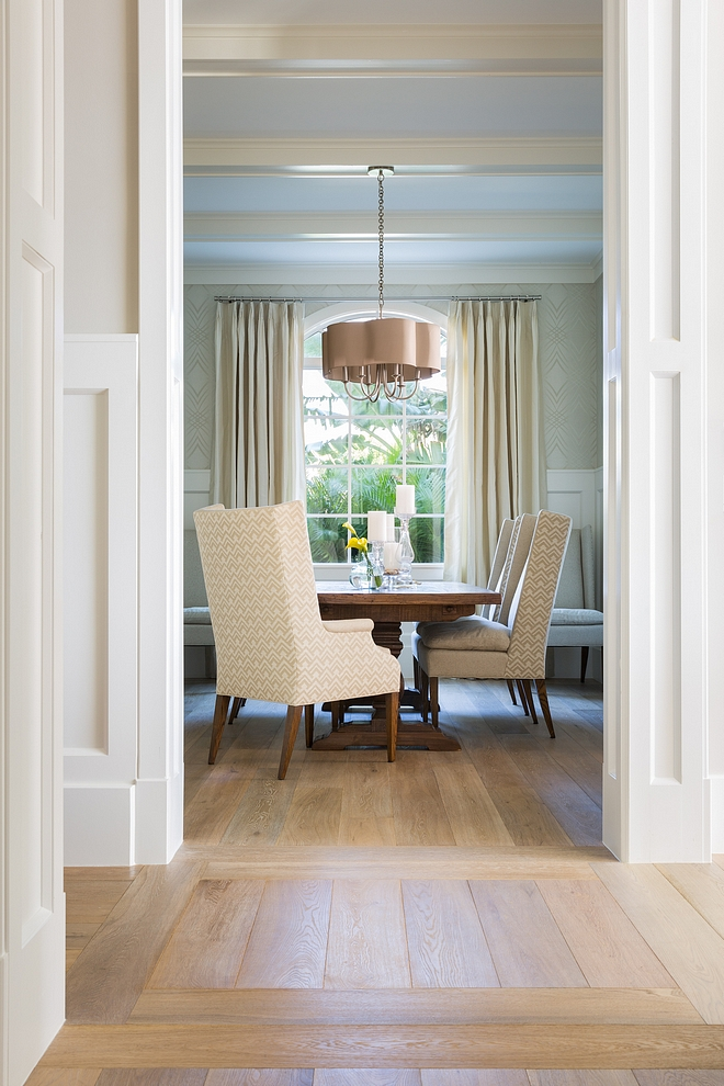 Dining room hardwood Dining room White Oak hardwood flooring White Oak hardwood flooring dining room source on Home Bunch #WhiteOak #hardwoodflooring