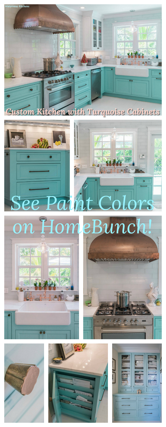 Turquoise Kitchen Design sources on Home Bunch