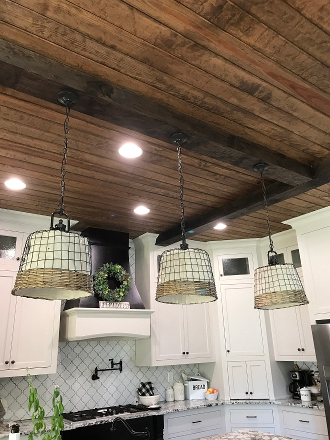 Kitchen Lighting basket lighting shade DIY farmhouse basket lighting shade details on Home Bunch