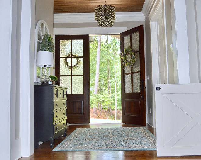 Foyer with double front doors - source on Home Bunch