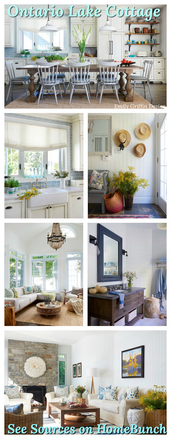 Coastal Farmhouse Lake Cottage Sources on Home Bunch