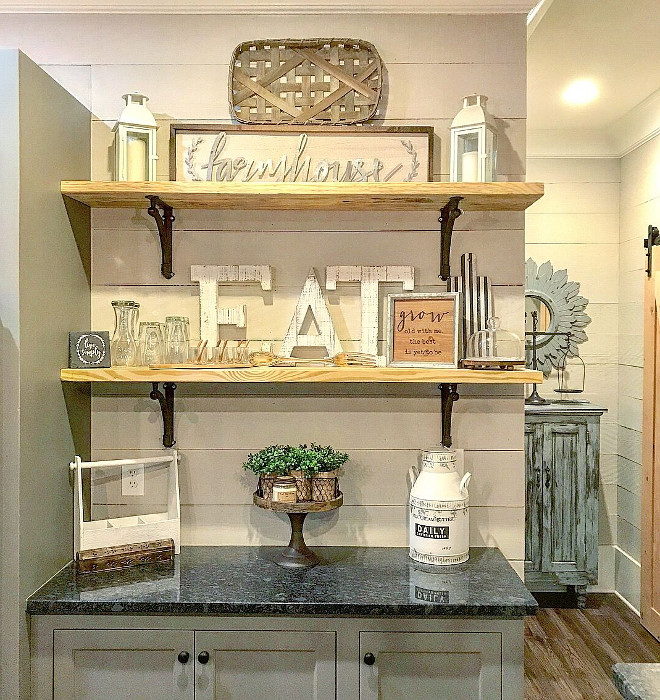 Farmhouse Shelves Farmhouse Shelves source on Home Bunch Farmhouse Shelves #FarmhouseShelves