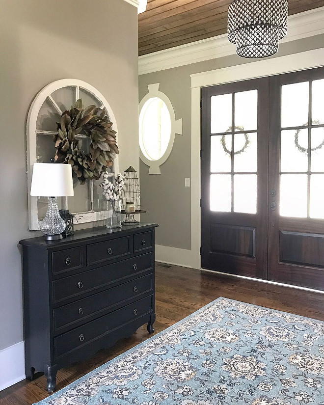 Paint Colors Sherwin Williams Amazing Gray SW 7044 Foyer Paint Color sources on Home Bunch