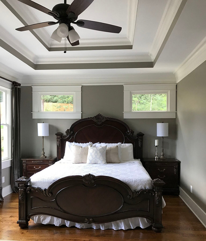 Grey Master Bedroom Sherwin Williams Amazing Gray SW 7044