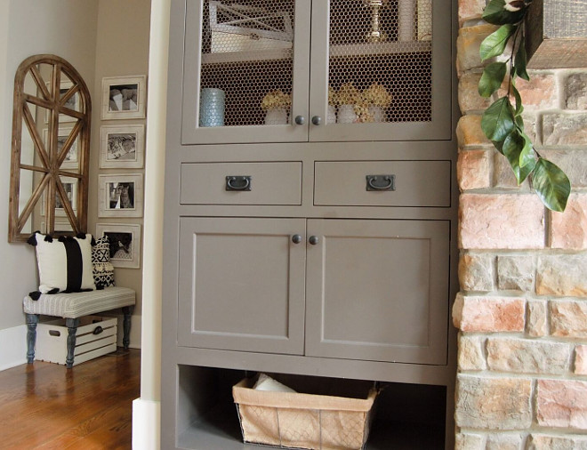 Sherwin Williams Urbane Bronze Grey Cabinet Paint Color