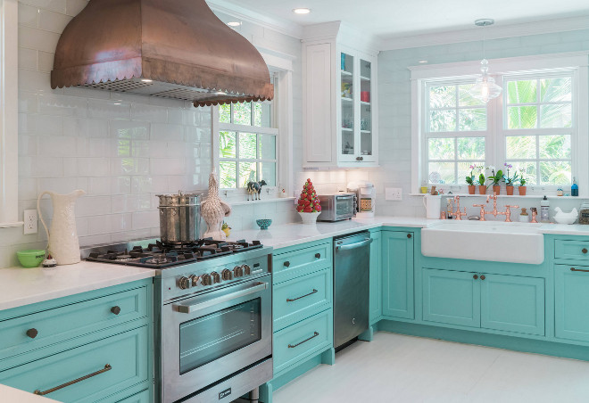 Turquoise kitchen Design Turquoise kitchen Design sources on Home Bunch