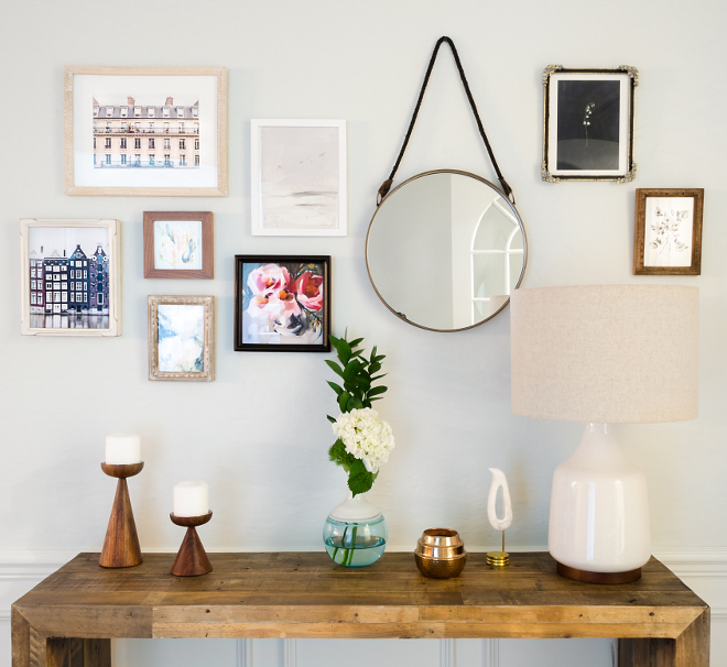 Foyer Wall Decor Ideas Foyer Wall Decor Prints, Console Table and Mirror sources on Home Bunch