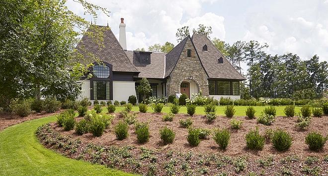 Tudor-style Home with Black Windows Tudor-style Home with Black Windows Tudor-style Home with Black Windows Tudor-style Home with Black Windows #Tudor #TudorHome #home #BlackWindows