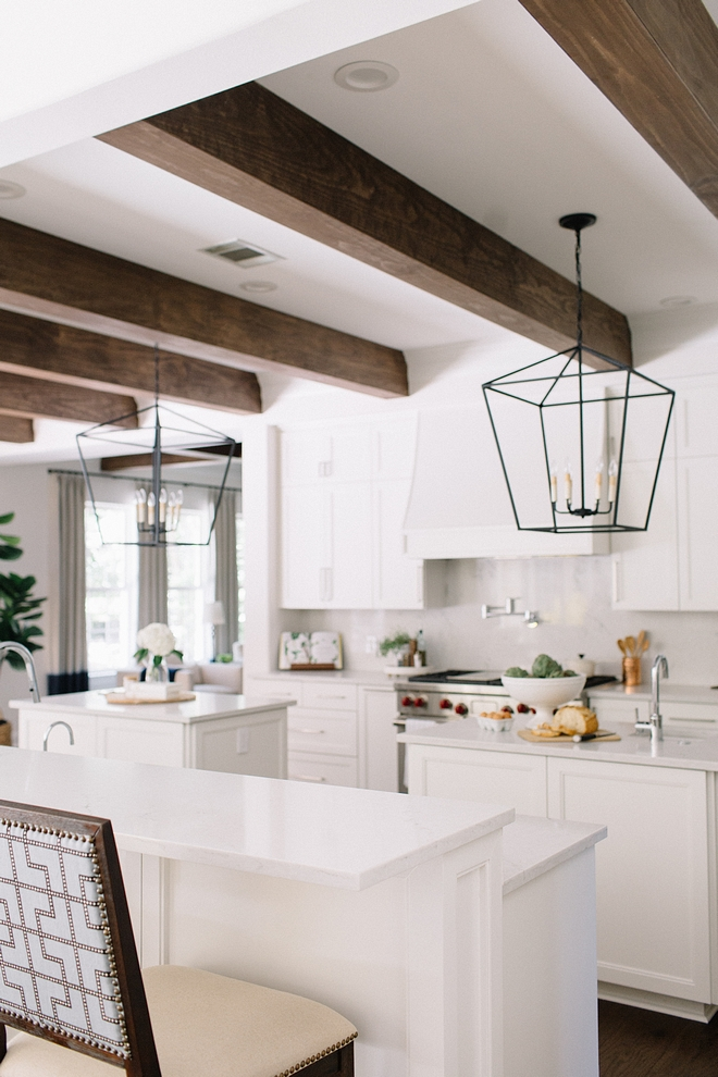 Benjamin Moore White Dove on kitchen cabinets with white quartz countertop Benjamin Moore White Dove on kitchen cabinets with white quartz countertop ideas